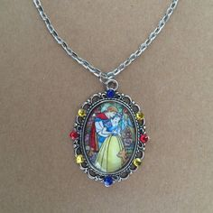 Hey, I found this really awesome Etsy listing at https://www.etsy.com/listing/243706690/stained-glass-snow-white-cameo-necklace
