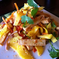 Mango Salad at Lemongrass Vietnamese Cafe in Renton,WA. Sweet & tangy with a kick!