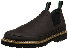 Georgia Giant Men's Romeo Slip-On Work Shoe,Brown,12 M Georgia Boot…