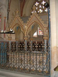 Pugin's tomb for Lady Sutton  St Mary, West Tofts, Norfolk