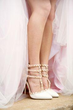Elegant Blush Southern Military Wedding in Alabama Wedge Wedding Shoes, Wedding Pumps, Bridal Shoes, Bridal Footwear, Gold Bridesmaid Dresses, Brides And Bridesmaids, Wedding Dresses, Valentino Wedding Shoes, Glamorous Wedding