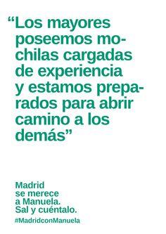 Carteles de Manuela #MadridconManuela #AhoraMadrid