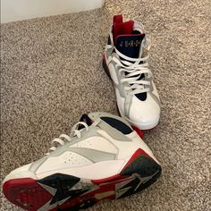 best service ee048 54f6e Jordan Shoes   Nike Retro Air Jordan Vii Olympics   Color  Red White   Size   9.5