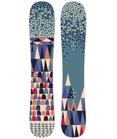 Snowboard design inspired by Yosemite National Park, and the legacy of California Modernism. By Alexander Vidal.