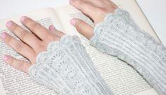 Armstulpen - graue ARMSTULPEN Alpaka Handstulpen edel silber - ein Designerstück…