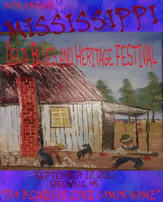2011 Mississippi Delta Blues and Heritage Festival Poster