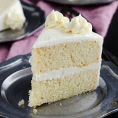 This made from scratch Basic Vanilla Cake Recipe is light, tender, and full of vanilla flavor.