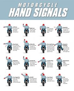 Motorcycle Hand Signals l Pinned by RidersLine.com.au