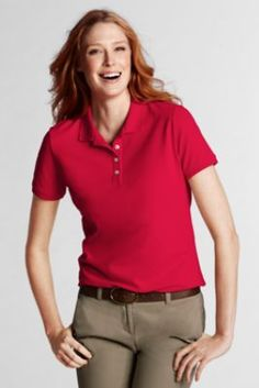 Women's+Short+Sleeve+Mesh+Polo+from+Lands'+End