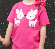 Deer shirt made with Cricut Iron-on. Make It Now in Cricut Design Space with the Cricut Explore.