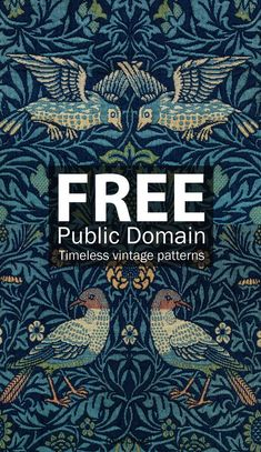 Spectacular Obtain timeless classic fashions by William Morris, a cel . Superb Obtain timeless classic fashion. Motif Vintage, Vintage Patterns, Vintage Pattern Design, Vintage Art Prints, Design Patterns, Vintage Style, Arts And Crafts Movement, Free Poster, Diy Tapete