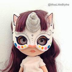 Un preferito personale dal mio negozio Etsy https://www.etsy.com/it/listing/286972607/blythe-doll-mask-animal-mascara-blythe