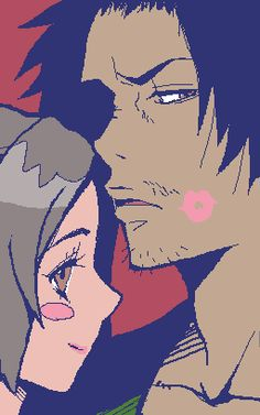 Mugen x Fuu Kiss on da cheek chu!~ > 3 <) ps sorry not really a gif >____>'}