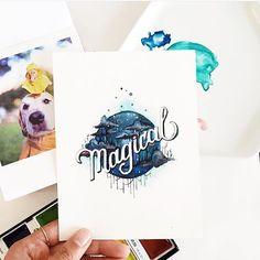 Magical by @junedigann #designspiration #lettering by designspiration