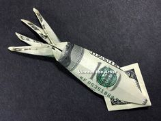 Money Origami Squid - Made with Two Hundred Dollar Bills