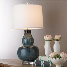 Tie Dye Double Gourd Table Lamp