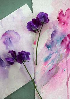 Watercolours With Life: Painting From Life: Sweet Pea in Watercolour