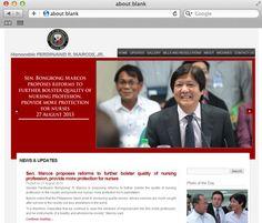 our client, the official website of Sen. Ferdinand Marcos Jr. www.bongbongm.com