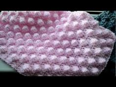 """TWIST"" CROCHETED DOUBLE SEED STITCH / PUNTO ARROZ DOBLE CROCHET CON TORZADA - YouTube"