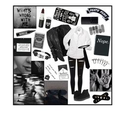 """""""/\/ I'm Losing My Self Control \/\"""" by blacklove1005 ❤ liked on Polyvore featuring River Island, RED Valentino, Converse, Bling Jewelry, Zippo, Ardency Inn, Voom, Stephen Webster, Kreepsville 666 and NARS Cosmetics"""