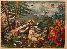 Madan-Bhasma (Shiva Turns to Ashes) Litograph cca. 1890