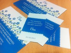 Últimos trabajos: diseño e impresión de tarjetón e invitación para el cumple de Elsa