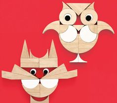 Miller Goodman Playshapes allow you to create adorable things like owls and cats!!