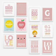 Wall Art for Girls Room Decor By Loopz