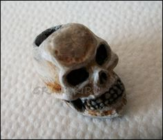 Skull Dread Bead. :: Shop DreadStop.Com for Leather Dreadlock Cuffs, Ties & Dread Beads #dreadstop