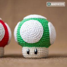"Download 1Up Mushroom (""Super Mario World"") Amigurumi Pattern (FREE)"