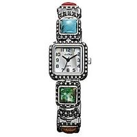 £27.00 Ladies Square Multi-Stone #Watch, #accessories www.highstreetfashion.co