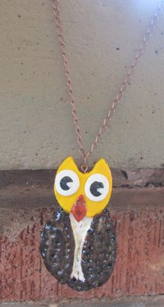 Owl Necklace by OrchidViola on Etsy, $12.00