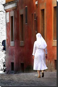 Just Around The Corner by Samantha Higgs #Rome #Vatican #travel #Nun #Catholic