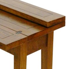 Naturally Timber Mango Creek flip-top dining table - 4-place, partly open top detail view