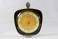 Vintage Art Deco JUNGHANS Wall Clock Wood West Germany 1940s 1930s by Vinteology on Etsy Vintage Home Decor, Vintage Art, Vintage Items, Art Deco Period, Cool Fonts, Clocks, 1930s, I Shop, Germany