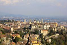 Bergamo Alta from San Vigilio, Bergamo, Italy