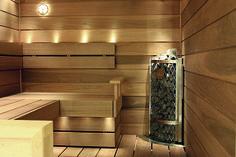Hörnaggregat sparar utrymme i din bastu! Saunas, Sweden, Door Handles, Wall Lights, Spa, Lighting, Interior, Sauna Ideas, Design