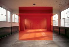 """""""installation artist and french photographer, georges rousse, paints geometrical shapes onto abandoned spaces and then photographs them."""""""