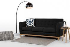 Large Retro Bow Floor Lamp, Matt Black   Absolute Home