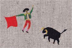 Postcard - Matador by Japanese illustrator tupera tupera (Tatsuya Kameyama x Atsuko Nakagawa)