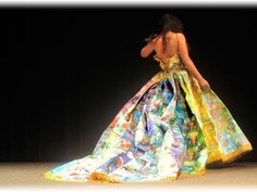 Imagine wearing several dozen Little Golden Books in a one-of-a-kind gown. Heaven! So fashionable, so literate, so colorful! Bravo, Ryan Novelline!