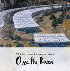Jeanne- Claude and Christo - artistic partnership. Christo And Jeanne Claude, Artistic Installation, Over The River, High School Art, Land Art, Art Plastique, Magazine Art, Virtual Tour, Public Art