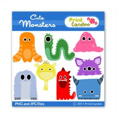 Monsters - BUY 2 GET 1 FREE - Personal and Commercial Use Clip Art - paper crafts, scrapbooking, card making