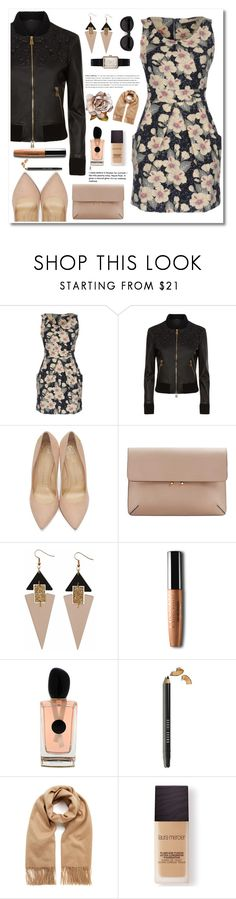 """Winter Prints: Dark Floral"" by emeraldxlake05 ❤ liked on Polyvore featuring Tenki, La Perla, Charlotte Olympia, MANGO, Toolally, Giorgio Armani, Bobbi Brown Cosmetics, Mulberry, Laura Mercier and Carla Zampatti"