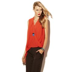 DRAPE FRONT TOP Vince Camuto