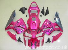 MotoCC Limited CBR600RR 03-04 PINK BLACK FLAME FAIRING KIT
