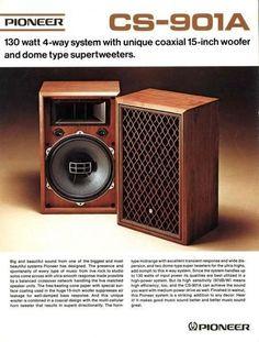 Pioneer model CS-901A Coaxial Speakers