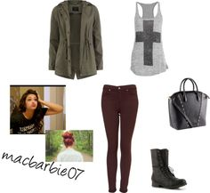 """""""inspiration from Bethany Mota"""" by sarapavle ❤ liked on Polyvore #repin"""