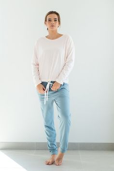 b4994a608404 Noctu Ethical Sustainable Sleepwear Tie Top Quartz Top and Harem Pants  Ethical Fashion Brands