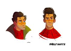 MeltyArtz The guy is also Nick Millar from New Girl and they are similar in both personality and looks First Animation, Animation Film, Marvel Avengers, Marvel Comics, Marvel Comic Character, Columbia Pictures, Spider Verse, New Girl, Deadpool